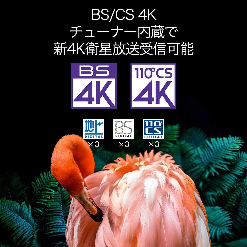 BS/CS 4Kチューナー内蔵