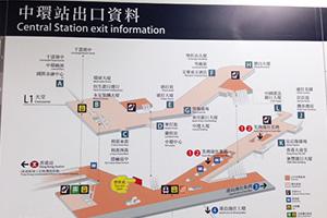 無料Wi-Fiスポットの場所を示す地図