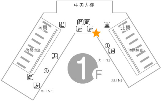 入境大廳 1樓 Telecom Square 櫃台