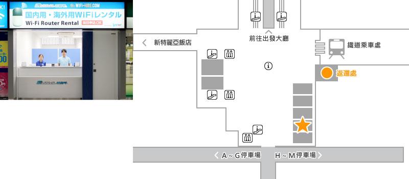 名鐵旅遊廣場 2樓 Global WiFi 櫃台