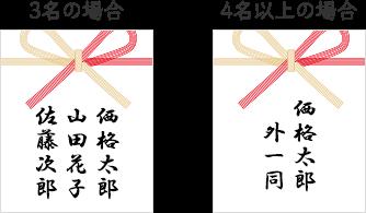 出産祝いのご祝儀袋やのしの書き方 連名の場合