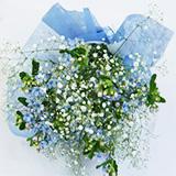 星の形 ブルースターの花束の画像