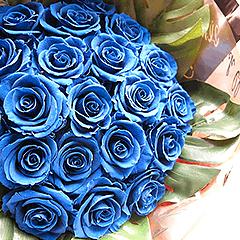 青バラ プリザーブドフラワー