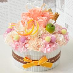 プリザーブドフラワー ケーキ型
