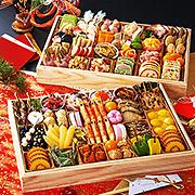 ふく吉 和洋おせち「祭り膳」二段重 計59種