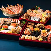 島の人「北海道 海鮮おせち」三段重 ズワイガニ付き
