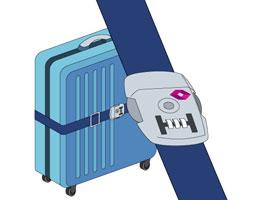 スーツケースの鍵について