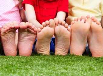 人間の足の形は3種類