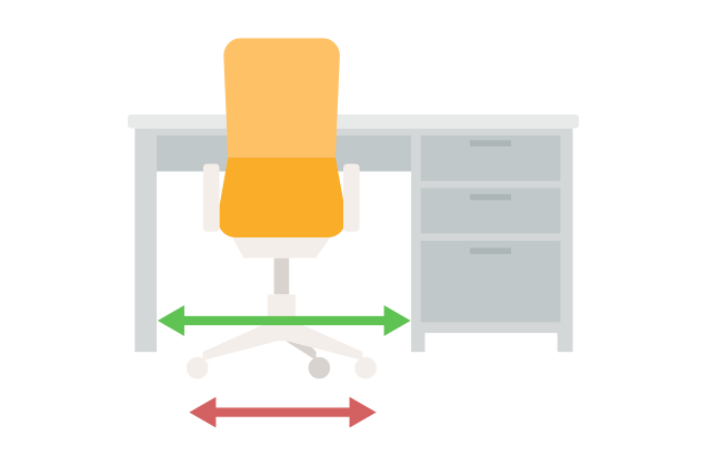 椅子の横幅