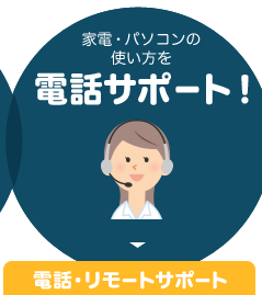 家電・パソコンの使い方を電話サポート!