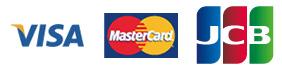 VISA、MasterCard、JCB