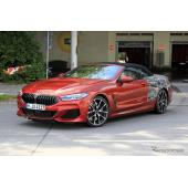 BMW 8シリーズカブリオレ、その全貌がほぼ丸見え…これが530馬力「M」だ!