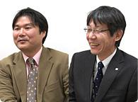 リコー パーソナルマルチメディアカンパニー 企画室 スペシャリスト 荒井 孝さん(左) ICS設計室 室長 阪口 知弘さん(右)
