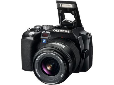 『本体 正面5 ブラック』 E-500 レンズキット の製品画像