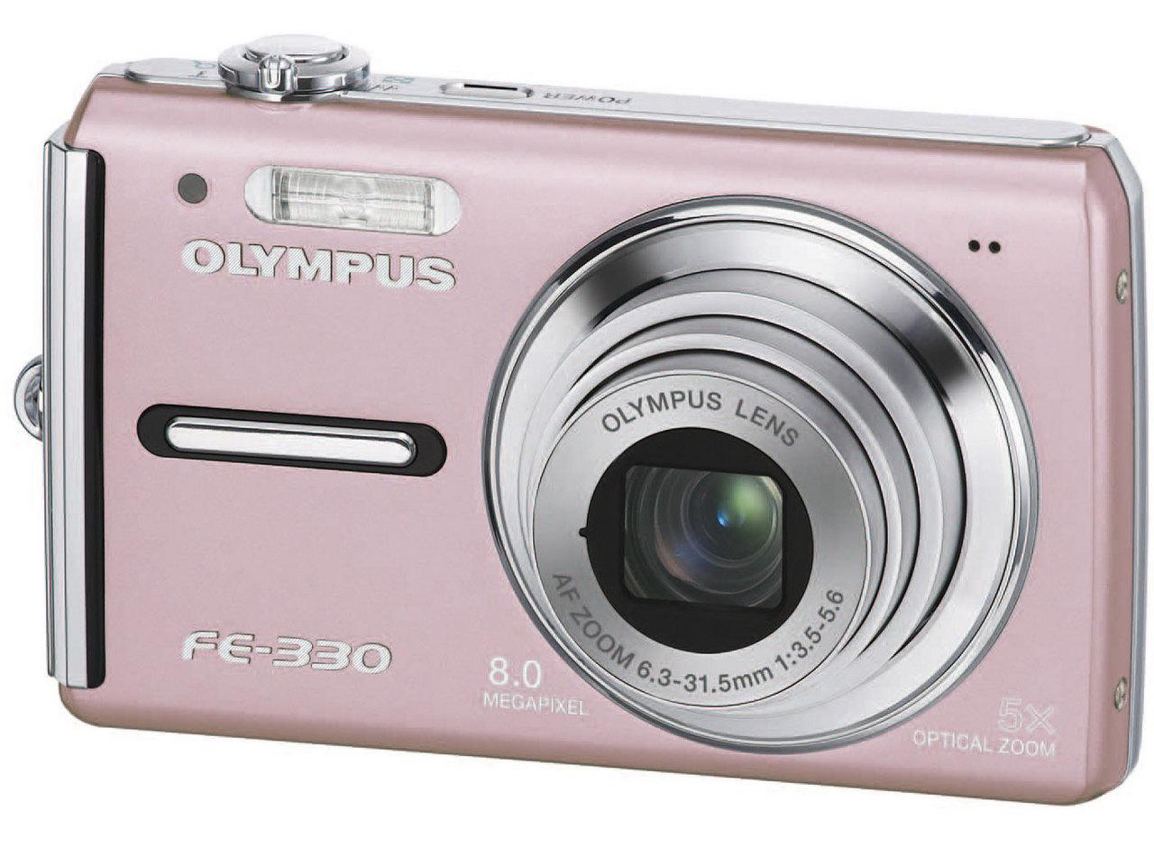 『本体 正面 ピンク』 CAMEDIA FE-330 の製品画像