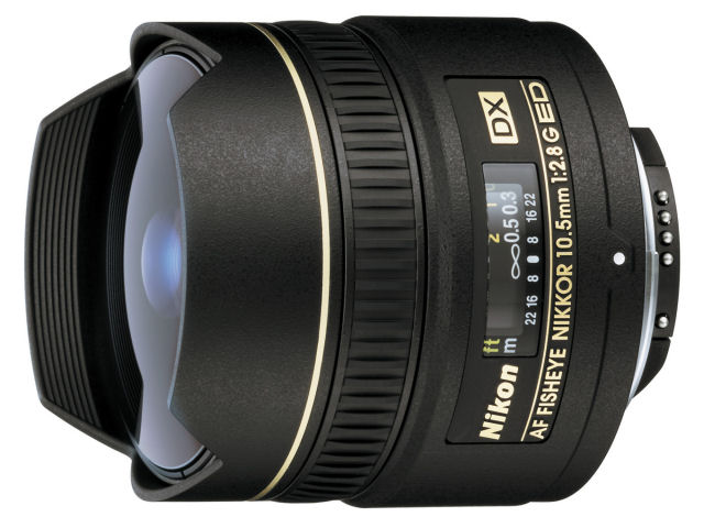 AF DX Fisheye-Nikkor 10.5mm f/2.8G ED の製品画像