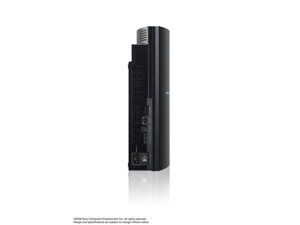『本体 縦置き 背面』 プレイステーション3 HDD 60GB の製品画像