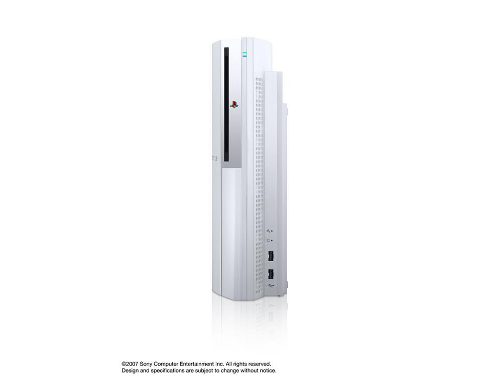 『本体 縦置き 正面1』 プレイステーション3 HDD 40GB セラミック・ホワイト(CECHH00 CW) の製品画像