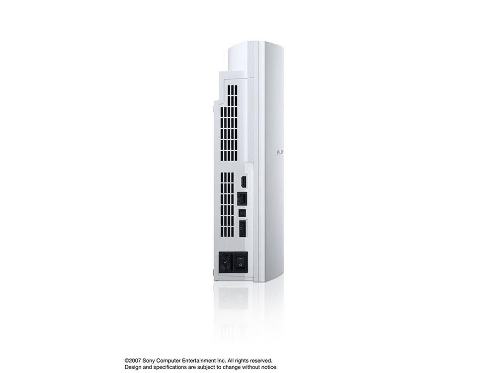 『本体 縦置き 背面』 プレイステーション3 HDD 40GB セラミック・ホワイト(CECHH00 CW) の製品画像