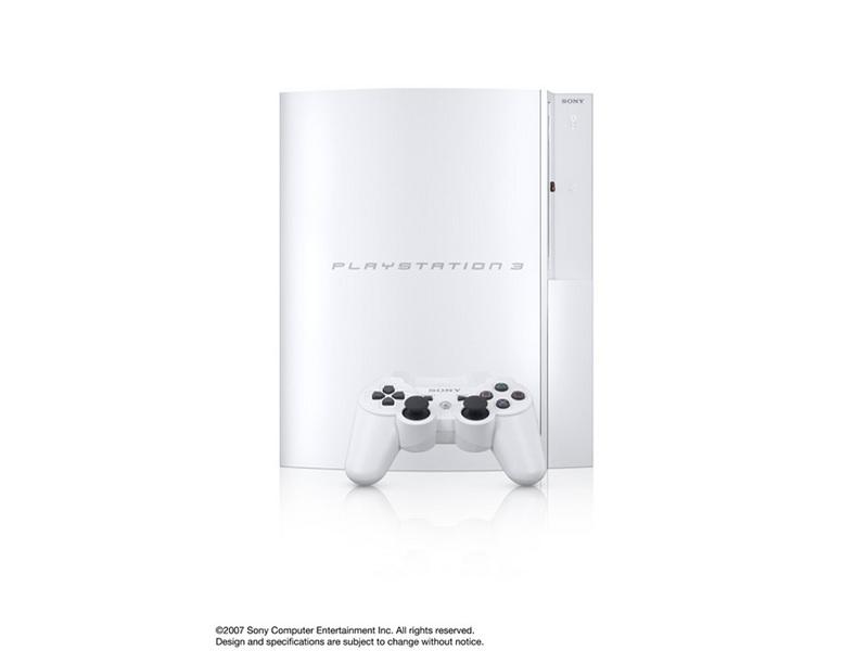 『本体 縦置き 左側面1』 プレイステーション3 HDD 40GB セラミック・ホワイト(CECHH00 CW) の製品画像