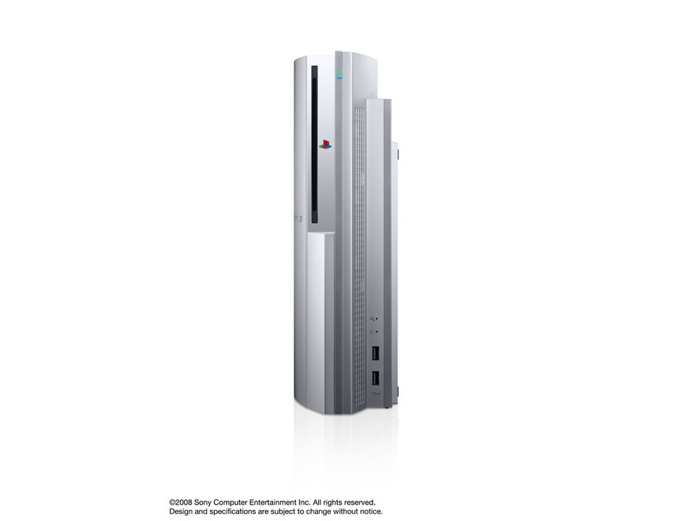 『本体 縦置き 正面1』 プレイステーション3 HDD 40GB サテン・シルバー(CECHH00 SS) の製品画像