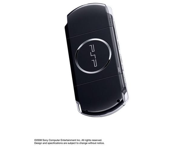 『本体 背面 斜め2』 PSP プレイステーション・ポータブル ピアノ・ブラック PSP-3000 PB の製品画像