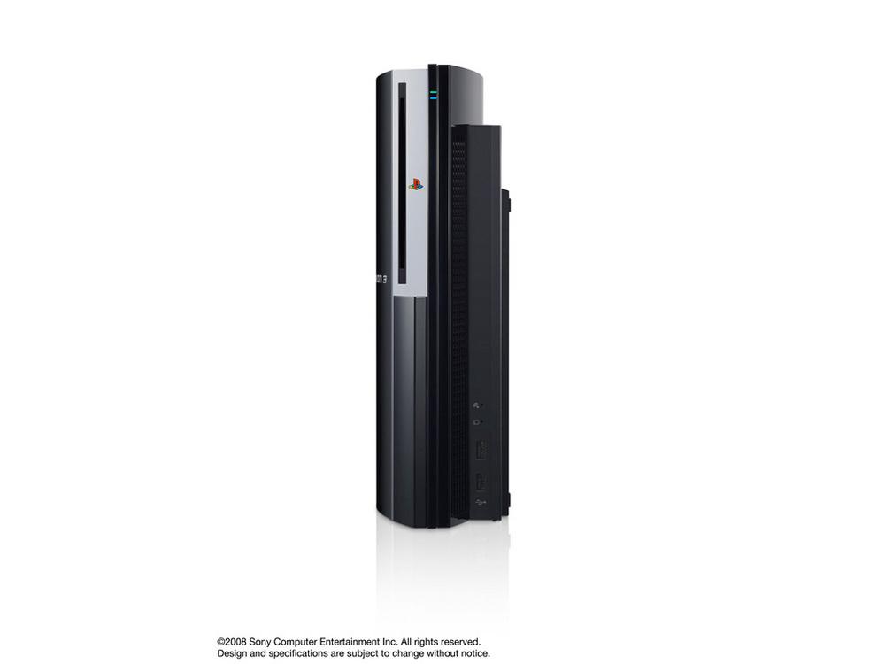 『本体 縦置き 正面1』 プレイステーション3 HDD 80GB クリアブラック CECHL00 の製品画像