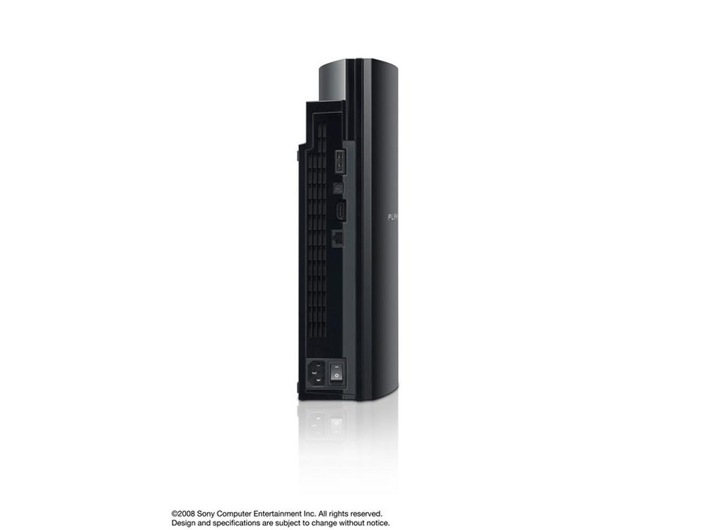 『本体 縦置き 背面』 プレイステーション3 HDD 80GB クリアブラック CECHL00 の製品画像