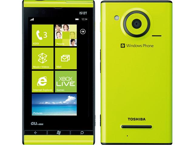 富士通東芝モバイルコミュニケーションズ Windows Phone IS12T 製品画像