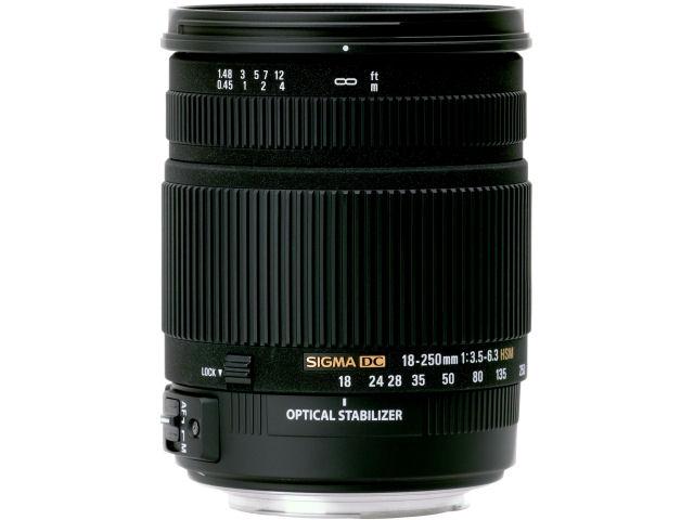 18-250mm F3.5-6.3 DC OS HSM (キヤノン用) の製品画像