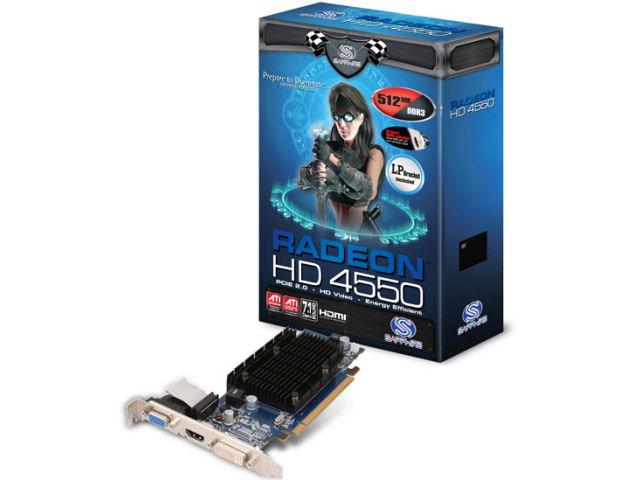 SAPPHIRE HD 4550 512MB DDR3 PCIE HDMI LP ファンレス (PCIExp 512MB) の製品画像