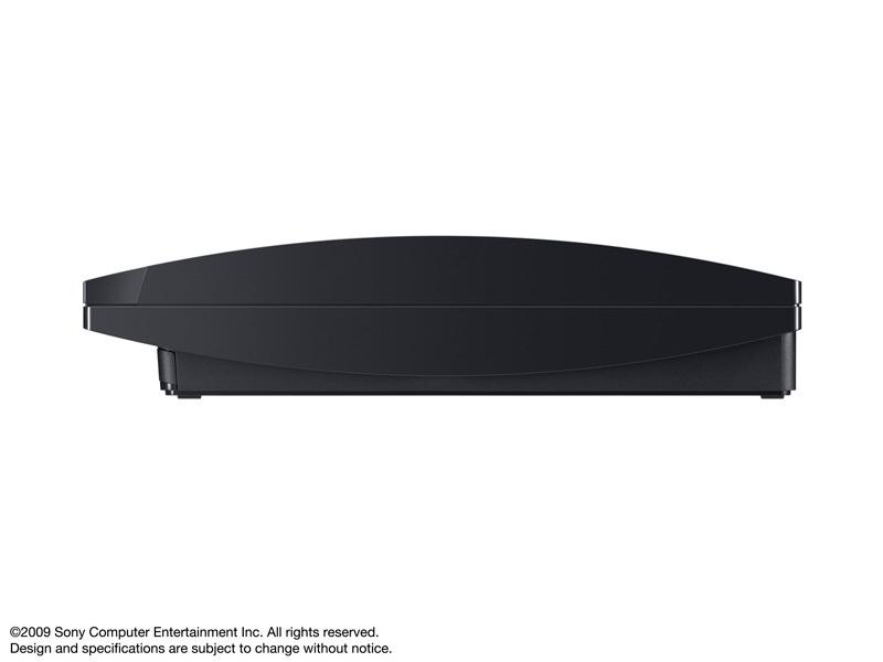『本体 横置き 左側面』 プレイステーション3 HDD 120GB チャコール・ブラック CECH-2000A の製品画像