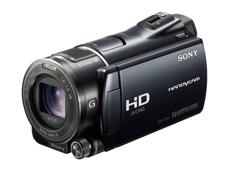『本体 正面 斜め』 HDR-CX550V の製品画像