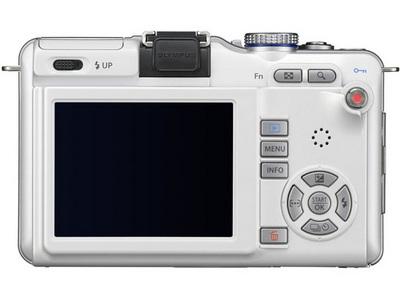 『本体 背面 ホワイト』 オリンパス・ペン Lite E-PL1 ボディ の製品画像
