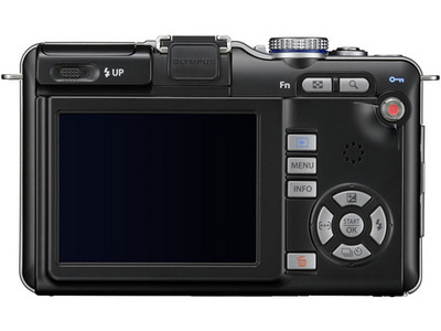 『本体 背面 ブラック』 オリンパス・ペン Lite E-PL1 ボディ の製品画像
