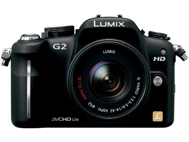 『本体 正面1 コンフォートブラック』 LUMIX DMC-G2W ダブルズームレンズキット の製品画像