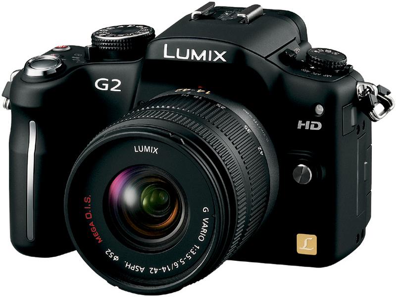 『本体 正面2 コンフォートブラック』 LUMIX DMC-G2W ダブルズームレンズキット の製品画像