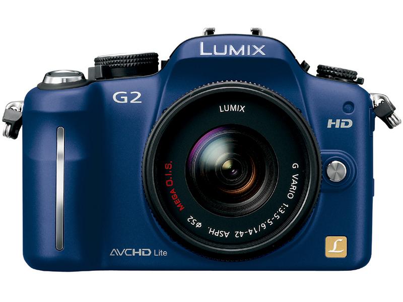 『本体 正面1 コンフォートブルー』 LUMIX DMC-G2W ダブルズームレンズキット の製品画像