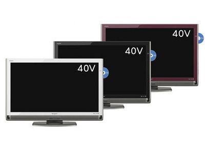 『本体 正面 カラーバリエーション』 LED AQUOS LC-40DX3 [40インチ] の製品画像