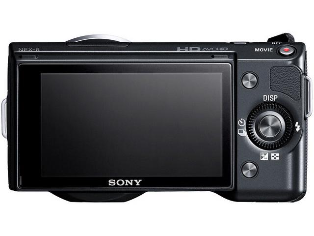『本体 背面 ブラック』 α NEX-5D ダブルレンズキット の製品画像