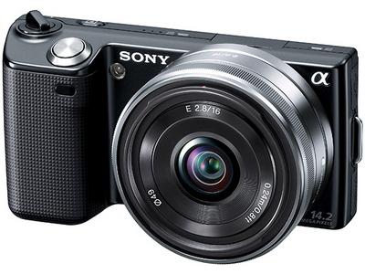 『本体 正面1 ブラック』 α NEX-5A 薄型広角レンズキット の製品画像