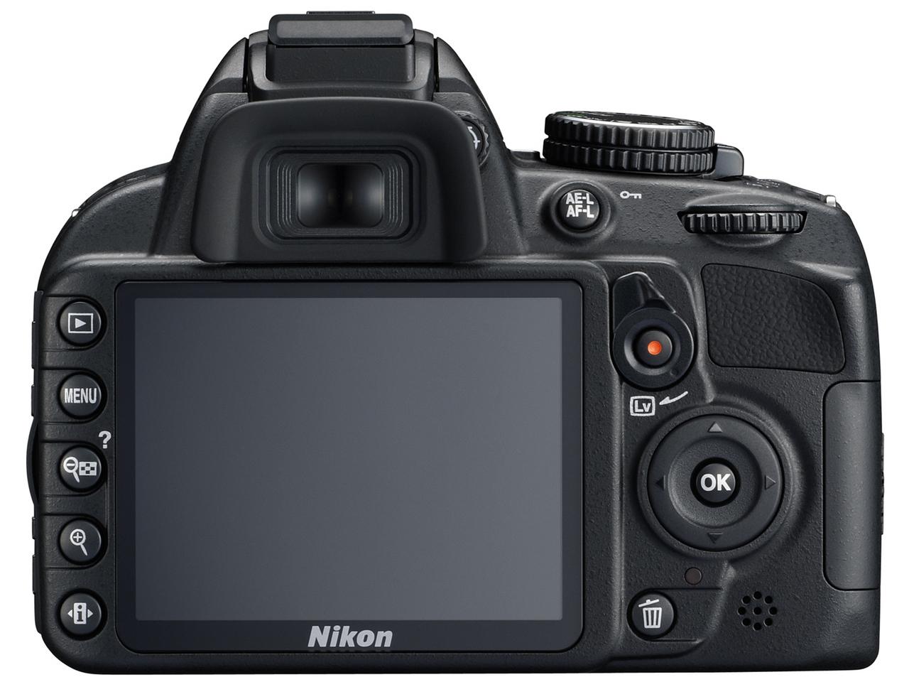 『本体 背面』 D3100 レンズキット の製品画像