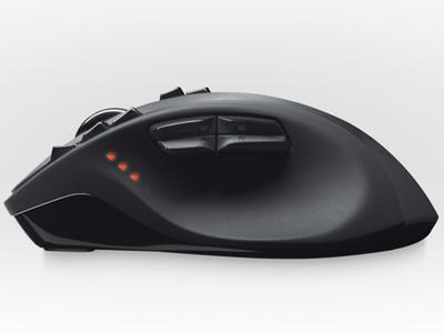 『本体 側面』 Logicool Wireless Mouse G700 [ブラック] の製品画像