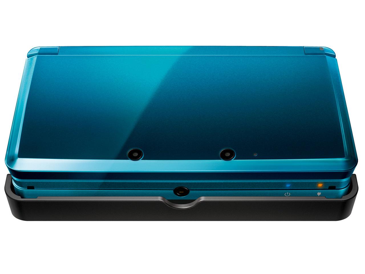 『本体 正面1』 ニンテンドー3DS アクアブルー の製品画像