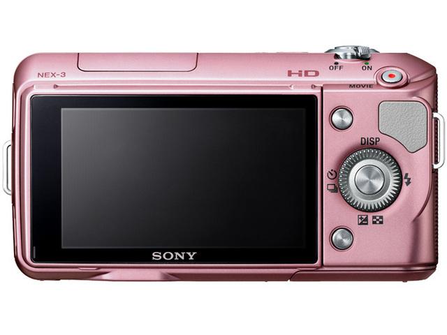 『本体 背面』 α NEX-3D ダブルレンズキット [ピンク] の製品画像