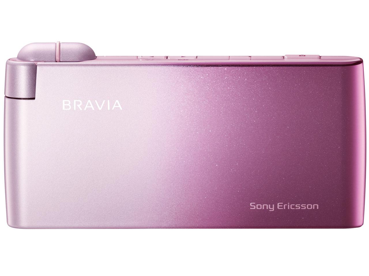 『本体 閉じ 正面1』 BRAVIA Phone S005 [シュガーピンク] の製品画像