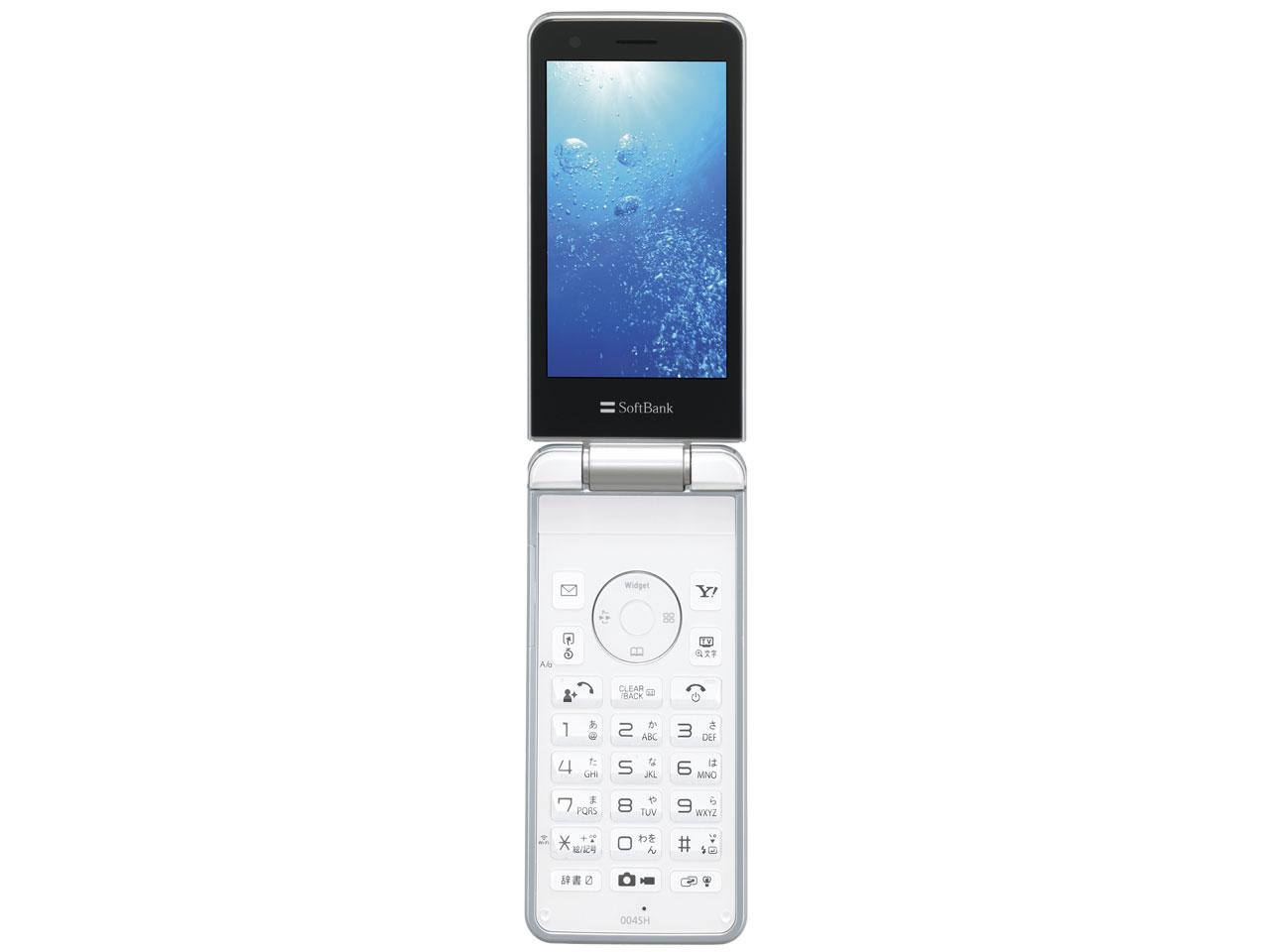 『本体 開き 正面1』 THE PREMIUM7 WATERPROOF SoftBank 004SH [ホワイト] の製品画像