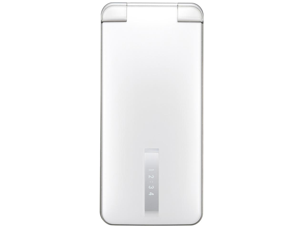 『本体 閉じ 正面』 THE PREMIUM7 WATERPROOF SoftBank 004SH [ホワイト] の製品画像