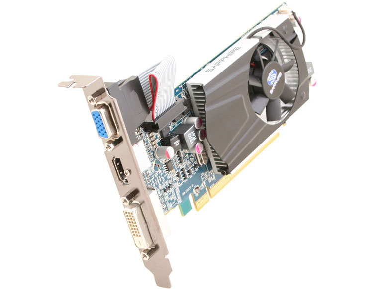 『本体 正面 斜め』 SAPPHIRE HD6570 1G DDR3 PCI-E HDMI/DVI-D/VGA [PCIExp 1GB] の製品画像
