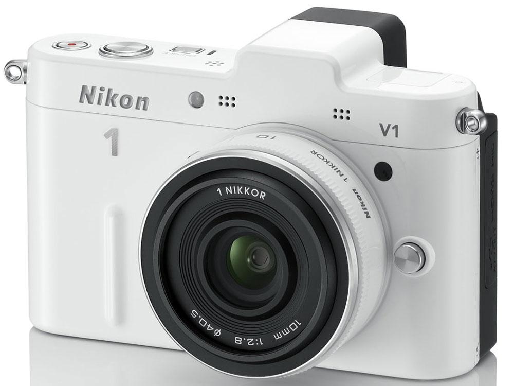 Nikon 1 V1 薄型レンズキット [ホワイト] の製品画像